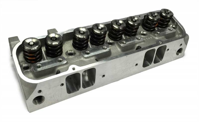 Butler Performance - Butler Performance Edelbrock Round Port/Wide Port Custom CNC Machined Pontiac 87cc 370+CFM Cylinder Heads, (Pair) BPI-87cc-EDL-RdPort-370CNC-WP