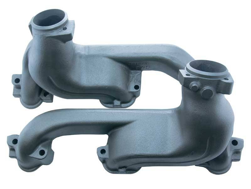 Max Manifolds - Max Manifolds Pontiac 1968-77 GTO/LeMans/Tempest 1970-81 FB/TA 1971-77 Full Size Ram Air D-port Exhaust Manifolds w/ High Temp Paint, 2.5 Oversized Exhaust Outlets (Set) MPE-RPE652H
