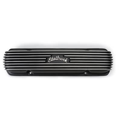 Edelbrock - Edelbrock Classic Series Pontiac Valve Cover, Black, Set EDL-41303