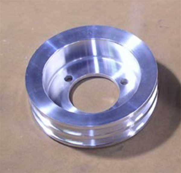 Ram Air Restorations - Pontiac Underdriven 2 Groove 4 Bolt Crankshaft Pulley 1968-70 Polished RAR-PUC-2C