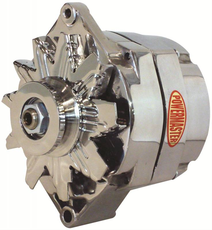 Power Master - Powermaster GM 12SI 140 amp 1 wire Polished Alternator POW-67293