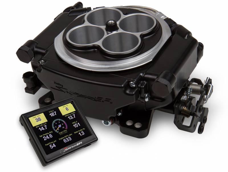 Holley - Holley Sniper EFI Self-Tuning kit + handheld EFI monitor- Black Finish HLY-550-511
