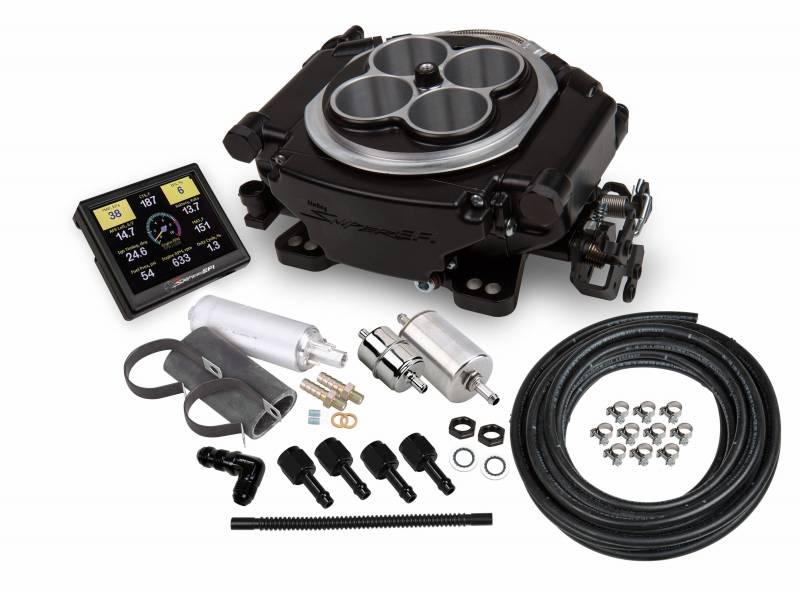 Holley - Holley Sniper EFI Self-Tuning w/Fuel System+ handheld EFI monitor- Black Finish HLY-550-511k