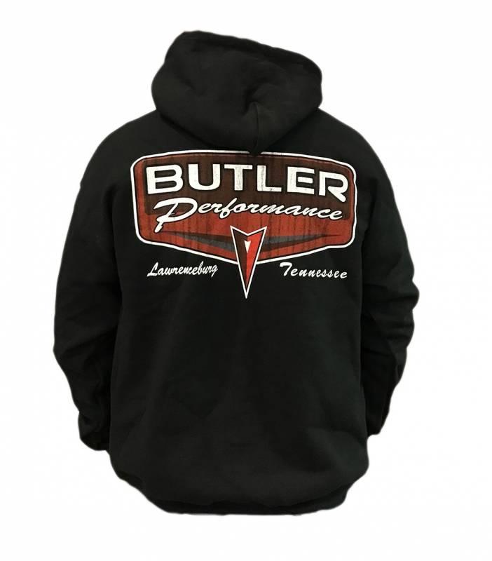 Butler Performance - Butler Black Retro Logo Hoodie, Small-4XL BPI-Hoodie-Retro
