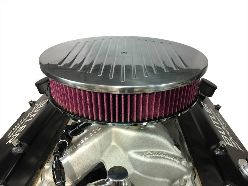 RPC - RPC Drop Base Air Cleaner w/Ball Milled Polished Billet Aluminum Lid and Washable High Flow Filter, 4150 Style RPC-S6811