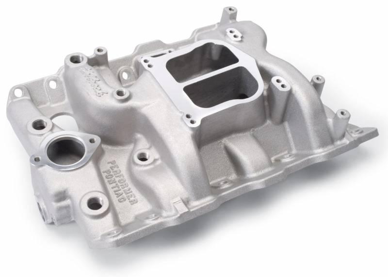 Edelbrock - Edelbrock Performer Intake Manifold, Satin, PONTIAC 326-455 V8 (EGR) EDL-3756