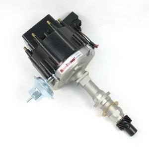 Pertronix - Pertronix Pontiac HEI Distributor w/ Vacuum Advance & HEI III Module, Black Cap, .491 Shaft Size, Each PPP-D71200