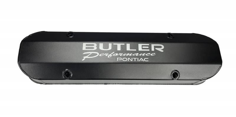 Butler Performance - Butler Performance CNC Logo Aluminum Valve Covers (Set) BPI-VC-PRW-BUTLER-BK