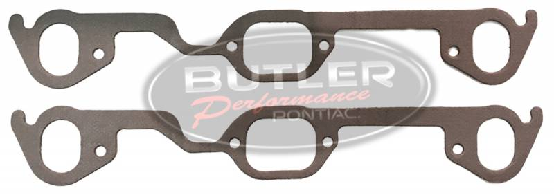 Butler Performance - Pontiac Stock D-Port Exhaust Gaskets with Relief Bends (Set) APE-N179PPA