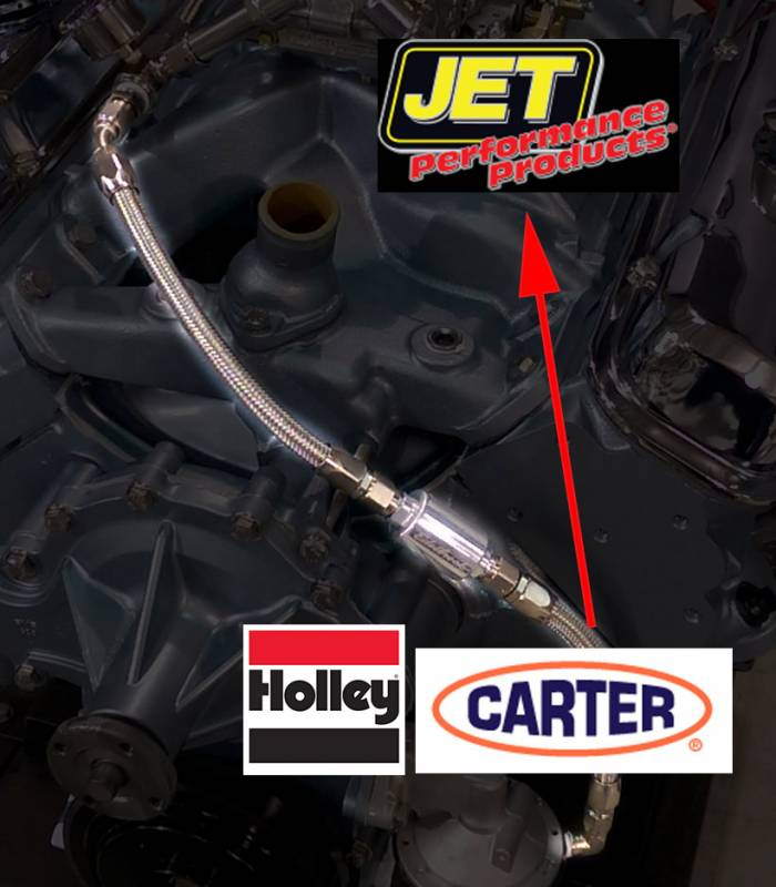 Butler Performance - Butler Fuel Pump to Carb Inlet Kit, Carter/Holley to QJet,Black or EnduraInlet BPI-1009FUEL