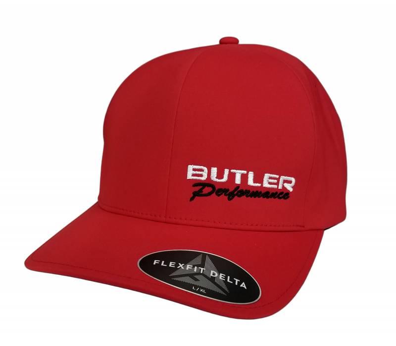 Butler Performance - Butler Performance Delta Hat, Red, (Flexfit),BPI-HAT-180-RED
