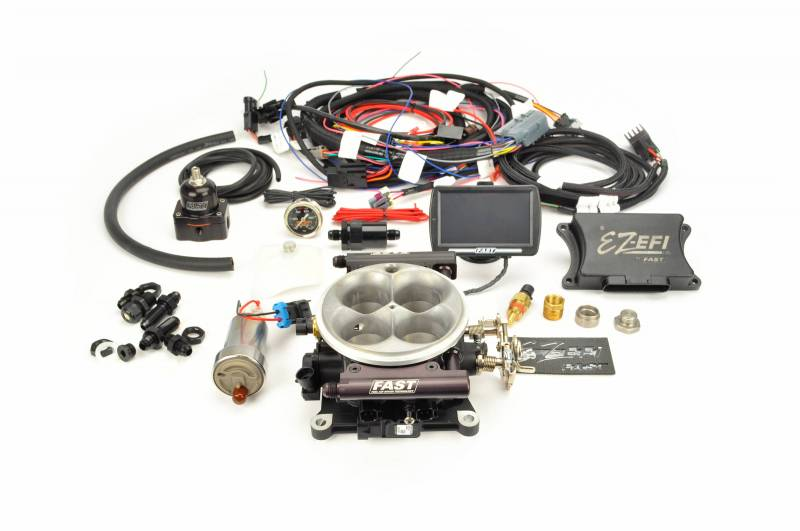 F.A.S.T. - FAST EZ-Fuel EFI Injection System w/Complete In-Tank Fuel System (EZ-EFI 1.0), w/4150 Black Anodized TB, w/Touchscreen FAS-30447-06KIT