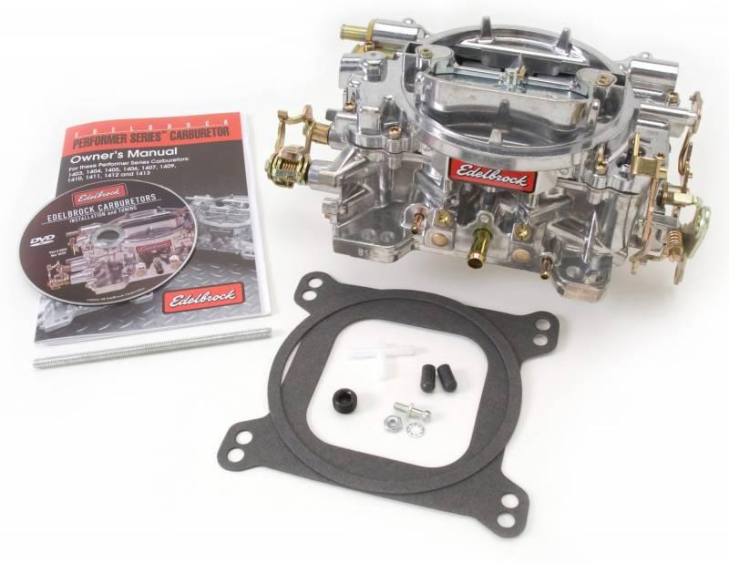 Edelbrock - Edelbrock Performer Series 800 cfm, Manual Choke Carburetor, Satin Finish (non-EGR) EDL-1412