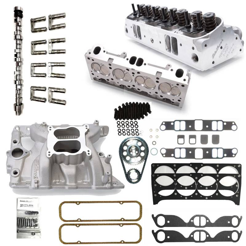 Butler Performance - Butler Edelbrock D-Port, 87cc, Hyd. Roller. Top End Package BPI-TEP-DP-87HR