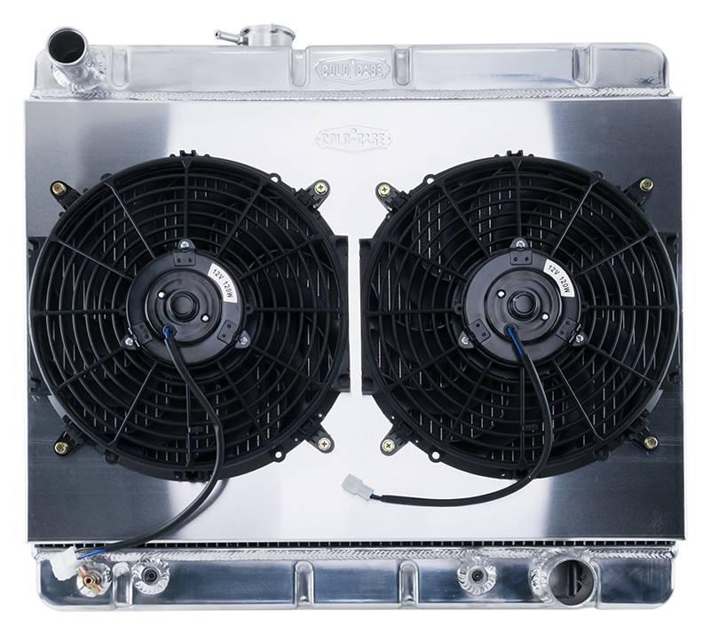 Cold Case - Cold Case 64-67 Pontiac GTO Super Duty Aluminum RadiatorShroud Fan KitW/O AC, AT & MT  CCR-GPG34ASK