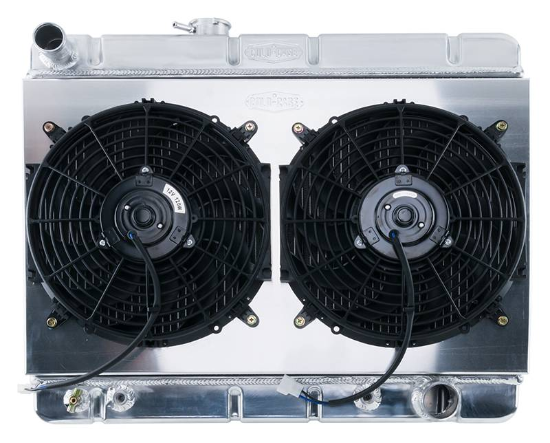 Cold Case - Cold Case 64-67 Pontiac GTO Super Duty Aluminum Radiator Shroud Fan Kit AC, AT or MT  CCR-GPG38ASK
