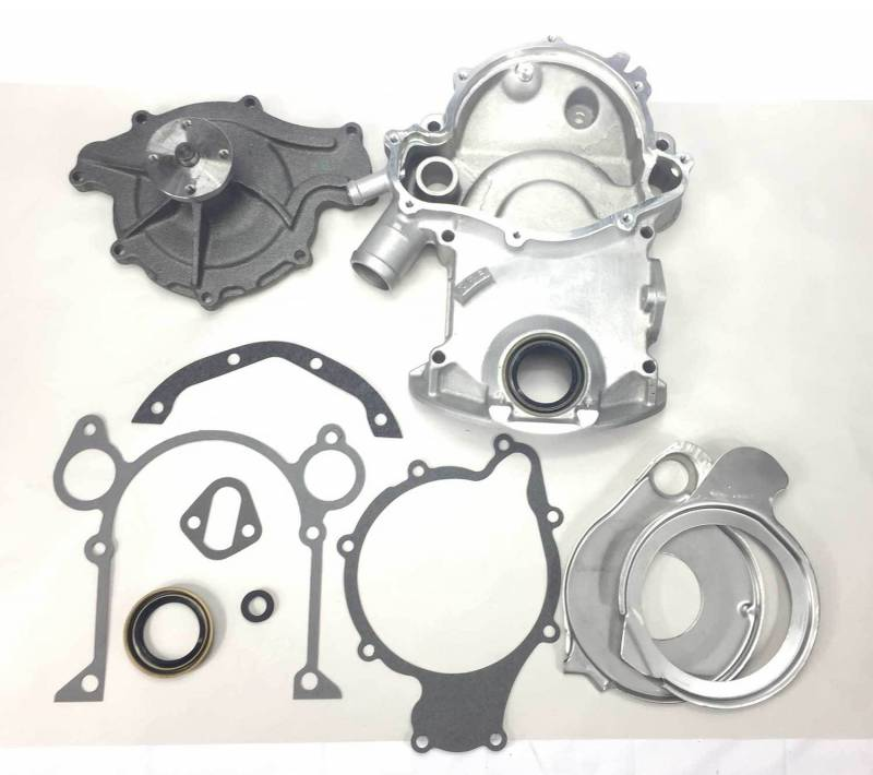 Butler Performance - Butler Performance 8-Bolt Replacement Timing Cover Kit w/High Flow Water Pump BPI-TC-8B-KIT