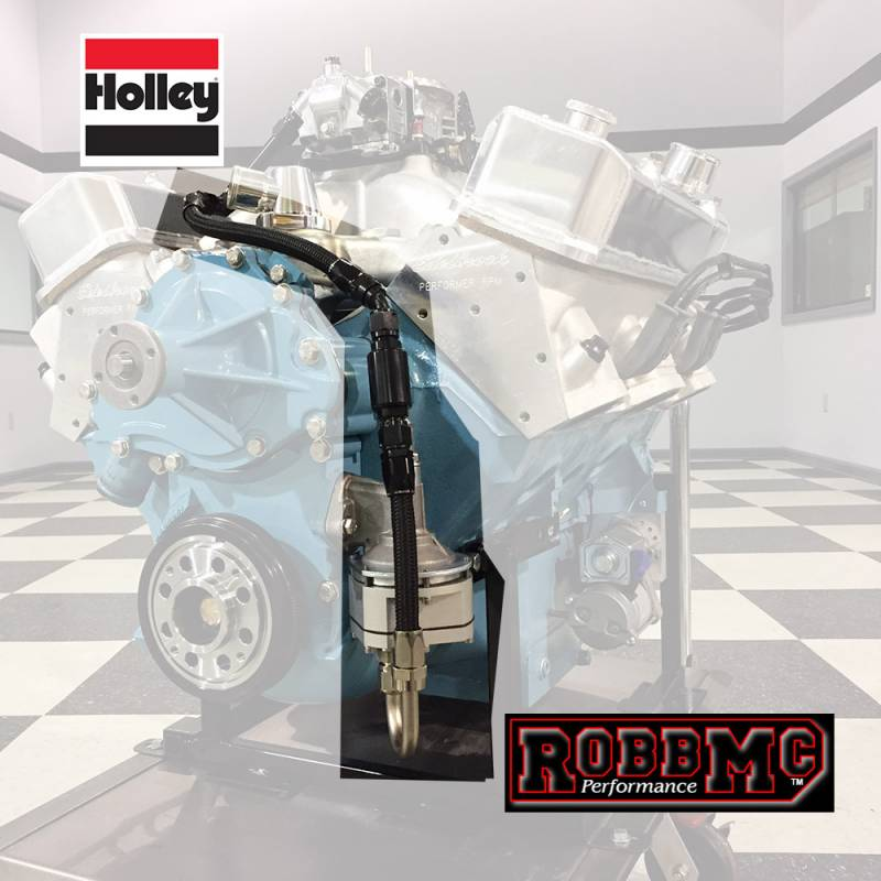 Butler Performance - Butler Fuel Pump to Carb Inlet Kit, -8AN RobMc to Holley,  Black or Endura Inlet BPI-1007FUEL-8