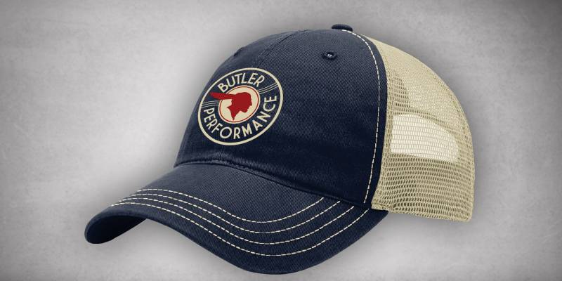 Butler Performance - Butler Performance Retro Service Hat, Navy/Khaki BPI-HAT-111-BL-NVY