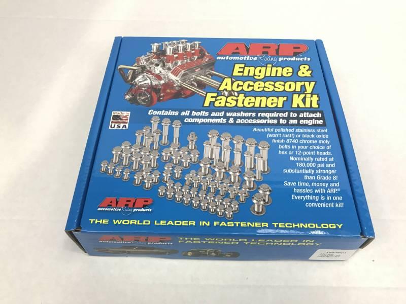ARP - ARP Pontiac Stainless Steel Complete Bolt Kit,6 pt, HexARP-594-9601