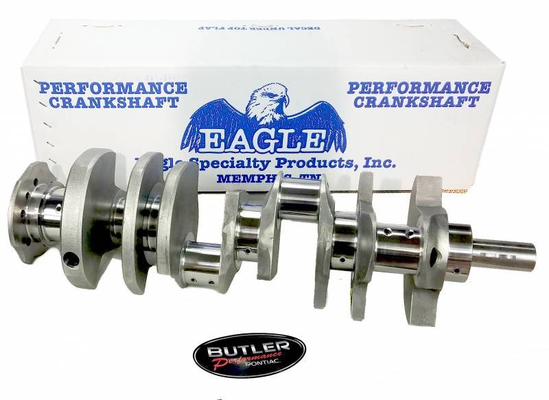 "Eagle Specialty - New Eagle Cast Crankshaft, 3.75"" Stroke, 3.00"" main, 326-400 Block, 2.250"" Pontiac RJ"