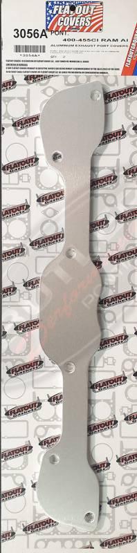 "Flatout - 400/455CI Ram Air 4 ""HO & SD"" '68-'74 Aluminum Exhaust Port Covers Set/2"