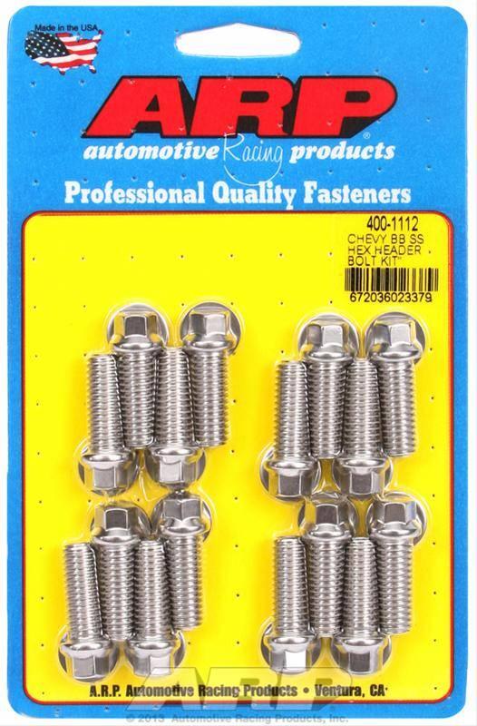 """ARP - 3/8"""" HexHead Stainless Steel Header Bolt Kit, Each"""