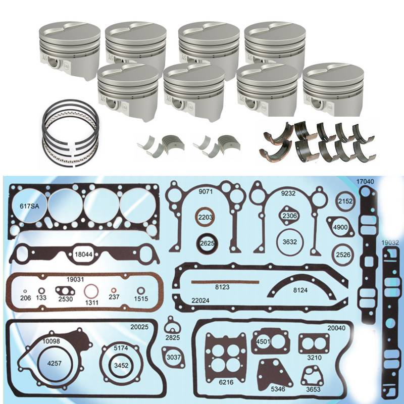 Butler Performance - Butler Pontiac 400 Rebuild Kit Cast, Hypereutectic Pistons