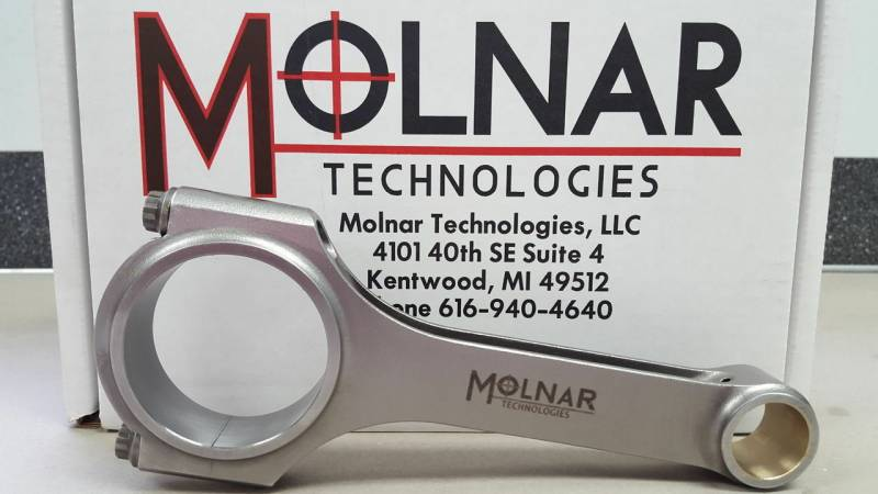 "Molnar - Molnar 4340 Forged H-Beam Rods, 6.800"", 2.200"" RJ"