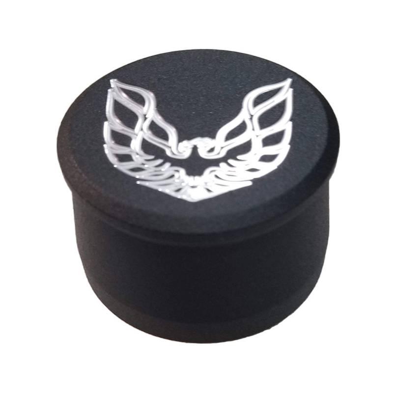 Butler Performance - Firebird Screaming Chicken Custom CNC Black Aluminum Push-In Breather