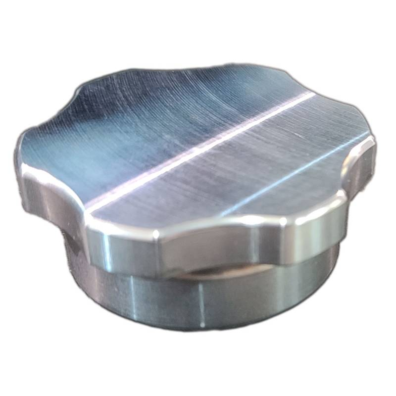 Butler Performance - Butler CNC 1-5/8 in. Fill Cap with Aluminum Weld-on Bung, Billet Finish