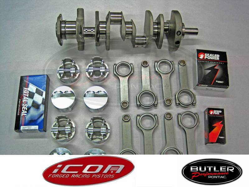 "Butler Performance - Butler Performance 455-462 ci Balanced Rotating Assembly Stroker Kit,  Keith Black Icon, for 400 Block, 4.210"" str."