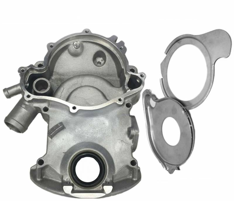 Butler Performance - Butler Pontiac Timing Cover-8 Bolt, with Fitted Plates 326, 350, 400, 421, 428 1964-1968 BPI-TC-68