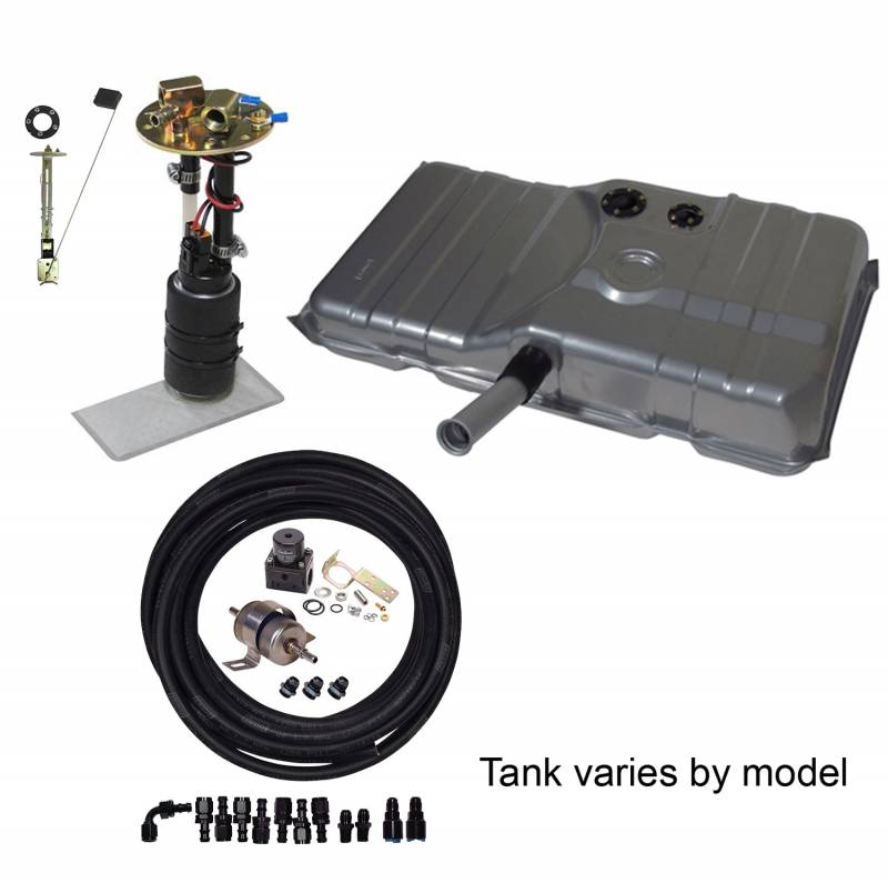 Butler Performance - Complete In-Tank Pump to Carb Solution Kit, w/New Fuel Tank and Complete In-Tank Fuel System