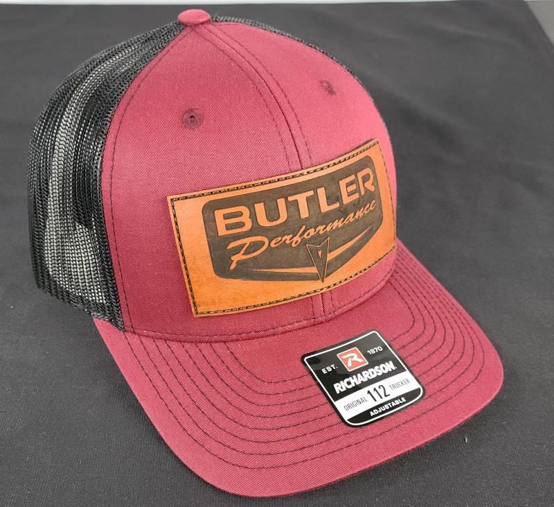 Butler Performance - Butler Retro Patch Hat, Maroon/Black Adjustable