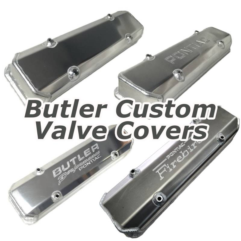 Butler Performance - Pontiac Custom Fab Aluminum Valve Covers, Raw Aluminum Finish, Choose Your Options (Set) BFA-VC-