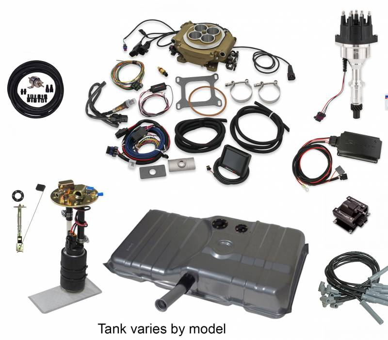 Butler Performance - Butler Performance Ignition Series Complete EFISolution Kit w/ HOLLEY SNIPER 4150, EFI Ready Fuel Tank w/Complete In-Tank Fuel System
