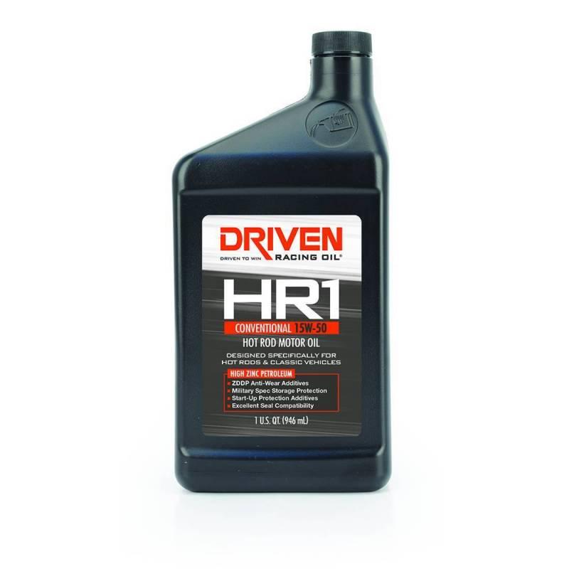Driven - Driven HR1 Hot Rod Conventional Motor Oil 15w50, Quart, JGD-02106