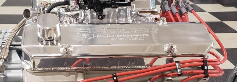 "Butler Performance - Butler Performance2 3/4"" Short ""Butler Performance Pontiac"" Fab Aluminum Valve Covers Polished (Set)BFA-SVC2-POL"