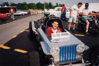 Roger Manson's Pontiac 4 cylinder Powered Jeep Dragster  Cover