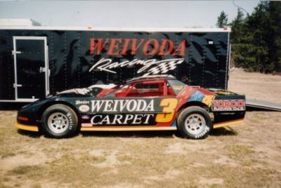 Chris Weivoda's Pontiac Powered Circle Track (Dirt) car. Cover