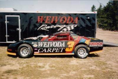 Chris Weivoda's Pontiac Powered Circle Track (Dirt) car. Cover