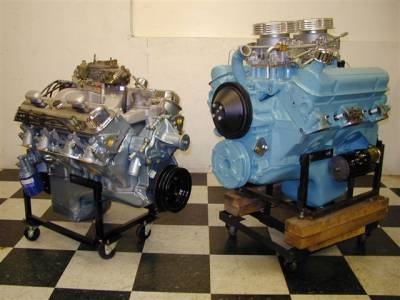 Two of the most rare Pontiac engines ever produced: 1969 RAV (left) and 1963 SD 421 (right), both of these built by Butler Performance Cover