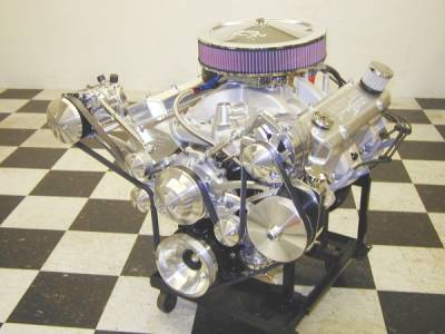 Butler Performance 461-474 c.i. Crate Engine with Accessories. Starts at 500 HP and 550 ft.lbs. of torque. Cover