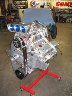 489 cu.in Blown Butler Performance Pontiac. 14:71 Blower, IAII block, Tiger Heads. 1600 + HP !! Cover