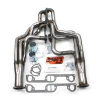 "Doug's Headers - Doug's Headers 1 3/4"" 4-Tube Full Length D-Port Headers Pontiac Catalina 326-455 65-68 Raw Steel DHE-D521R"