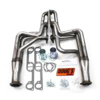 "Doug's Headers - Doug's Headers 1 3/4"" 4-Tube Full Length D-Port Headers Pontiac GTO 326-455 64-67 Raw Steel DHE-D564-R"