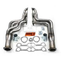 "Headers and Exhaust Manifolds - Dougs Headers - Doug's Headers - Doug's Headers 1 7/8"" 4-Tube Full Length Round Port Headers Pontiac GTO 326-455 64-72 Raw Steel DHE-D567-R"