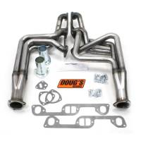 "Doug's Headers - Doug's Headers 1 3/4"" 4-Tube Full Length D-Port Headers Pontiac Firebird 326-455 70-81 Raw Steel DHE-D570-R"