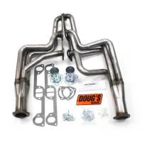 "Doug's Headers - Doug's Headers 1 3/4"" 4-Tube Full Length D-Port Headers Pontiac GTO 326-455 68-72 Raw Steel DHE-D590R"